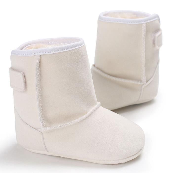 BOTTE Bébé fille garçons doux semelle bottes bottes de neige infantile bambin nouveau-né réchauffement chaussures@Noir nrJ5X0Tn7