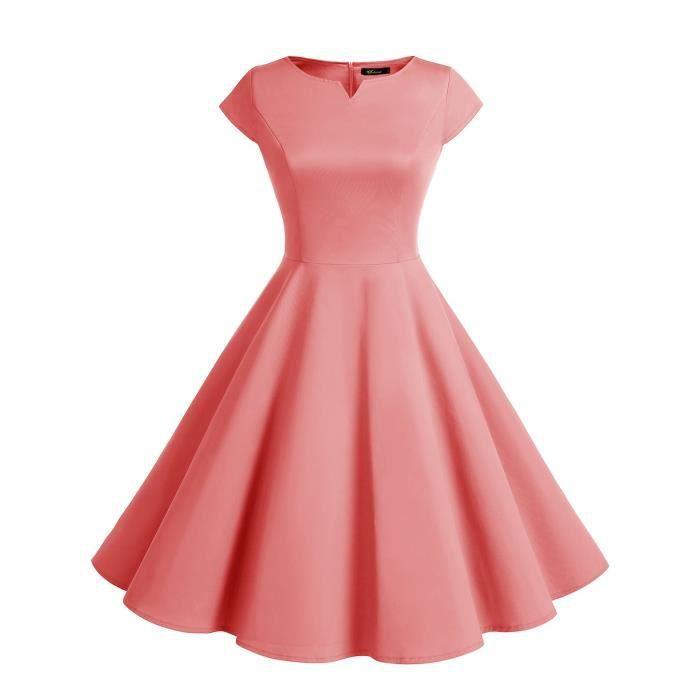 50s des femmes Retro Party Rockabilly robe de cocktail robe de bal 2ZR6GM Taille-40