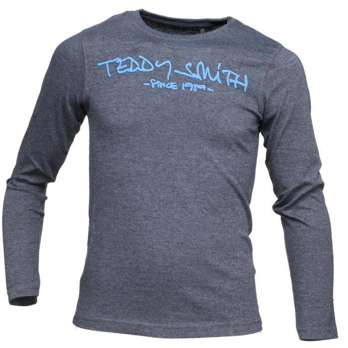 575bd64326b8e Tee Shirt Garçon Teddy Smith Ticlass3 Ml Jr 61... Noir Noir - Achat ...