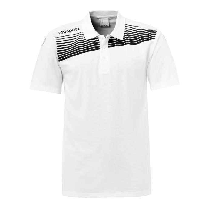 d5c34209d2705 Polo junior Uhlsport Liga 2.0 - blanc-noir - 12 ans - Prix pas cher ...