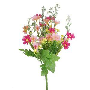 FLEUR ARTIFICIELLE 1 Bouquet de Cineraire Faux Bouquet de Fleurs Arti