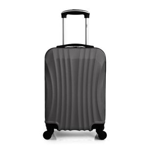 VALISE - BAGAGE Valise Cabine-ABS - Rigide -50 cm MOSCOU-GRIS FONC