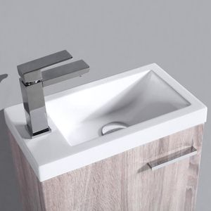 LAVE-MAIN Meuble lave-mains 40cm chêne