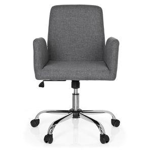 CHAISE DE BUREAU Chaise de bureau FLOW tissu gris clair hjh OFFICE
