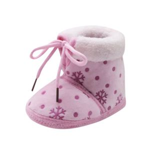 BOTTE Toddler nouveau-né bébé bébé neige impression doux semelle bottes Prewalker chaussures chaudes@RougeHM VA7zPuG