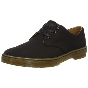 DERBY Dr. Martens Delray Twill toile noire, Derby hommes