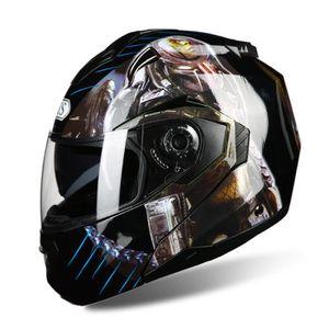 CASQUE MOTO SCOOTER Casque moto intégral Unisex de Marque luxe Predato