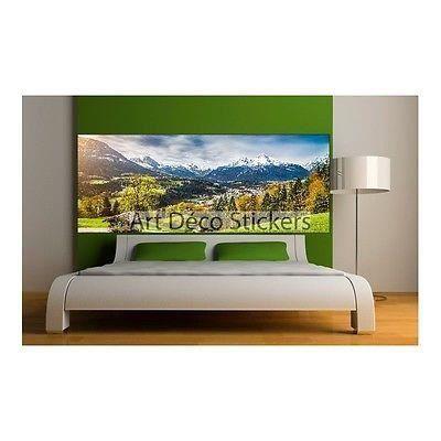 Deco Paysage stickers tête de lit déco paysage montagne 9112 dimensions