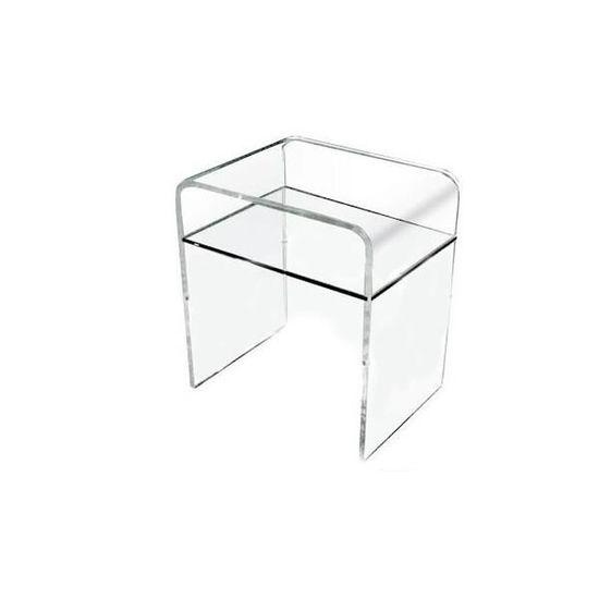 Table De Nuit Plexiglas console verre acrylique table de chevet acrylique effet verre 131
