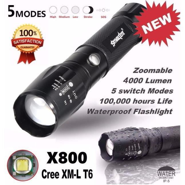 X800 Xyq60620121 Led Tactique Super Lumineux 118 Poche Militaire Lampe De Zoom 5000lm G700 mn0OwvN8