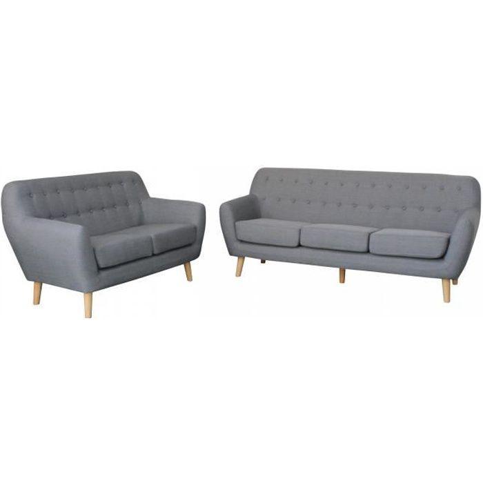 salon complet gris achat vente salon complet gris pas cher soldes d s le 10 janvier cdiscount. Black Bedroom Furniture Sets. Home Design Ideas