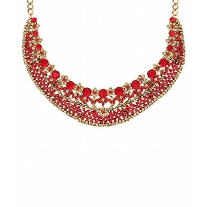 Collier rouge dor exclusif des femmes Set AIS75