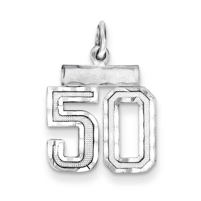 Argent Sterling charme-numéro 50