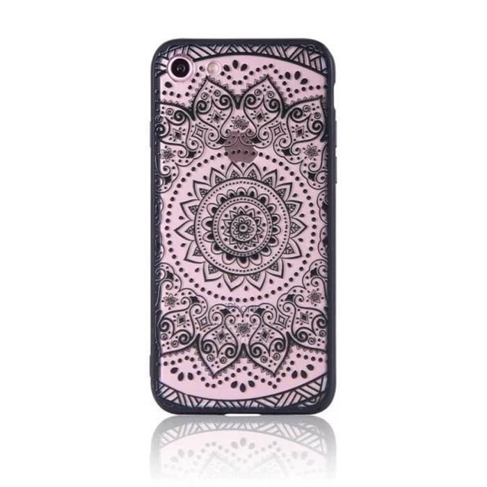 coque iphone 6 transparente mandala