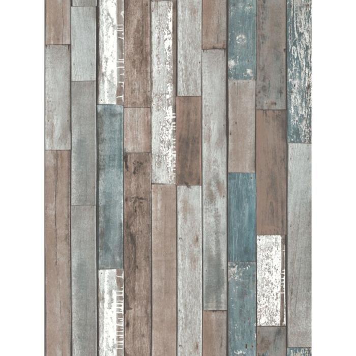 Planches de bois papier peint bleu fd40888 achat for Planches bois exterieur