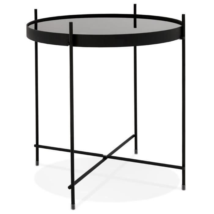 Table D Appoint Pliable Espejo Mini Noire Dimensions 3d 42 5x42