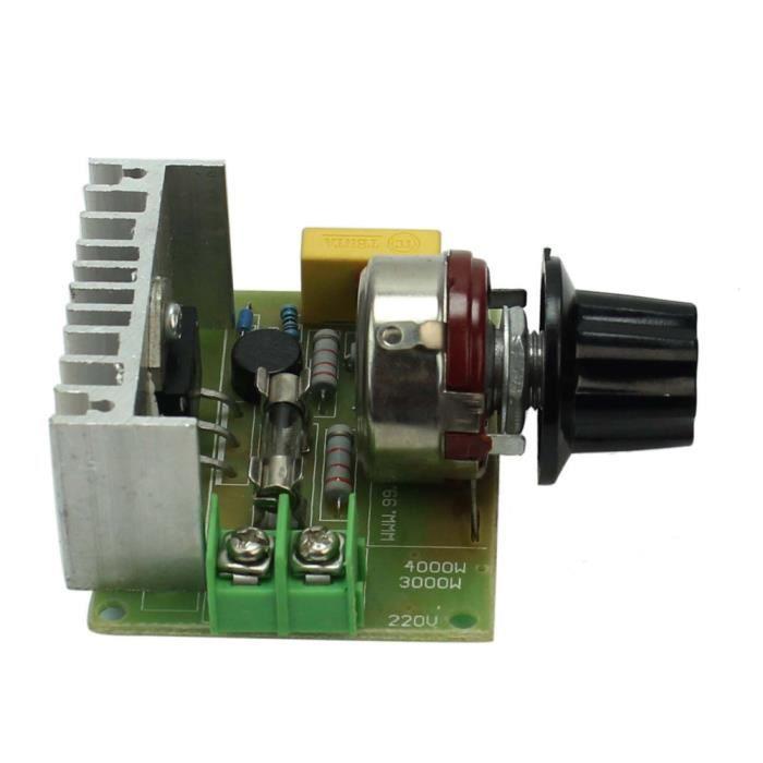 4000w variateur module r gulateur contr leur de vitesse tension lectronique achat vente. Black Bedroom Furniture Sets. Home Design Ideas