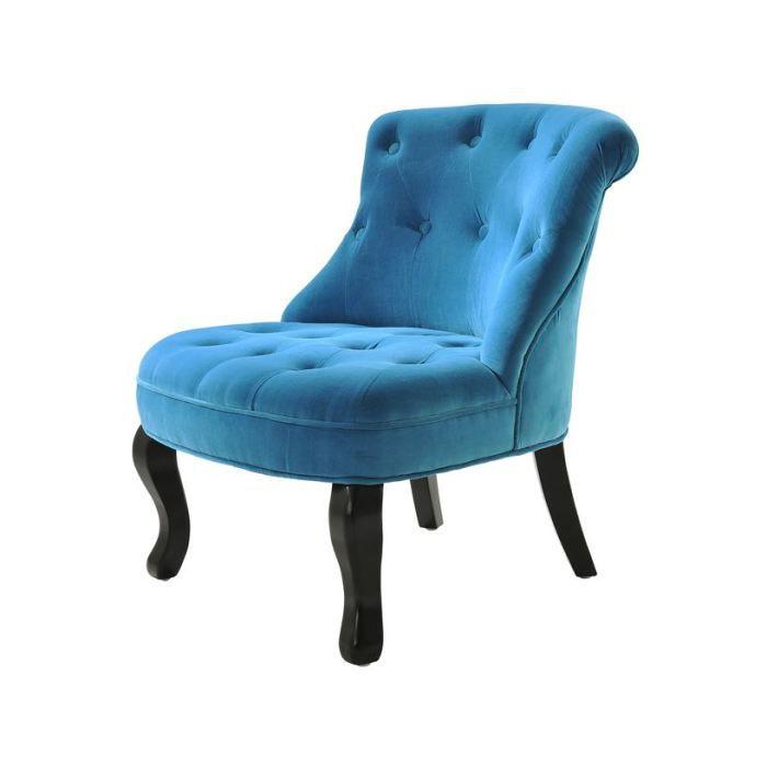 vivaldi fauteuil crapaud capitonn velours bleu achat. Black Bedroom Furniture Sets. Home Design Ideas