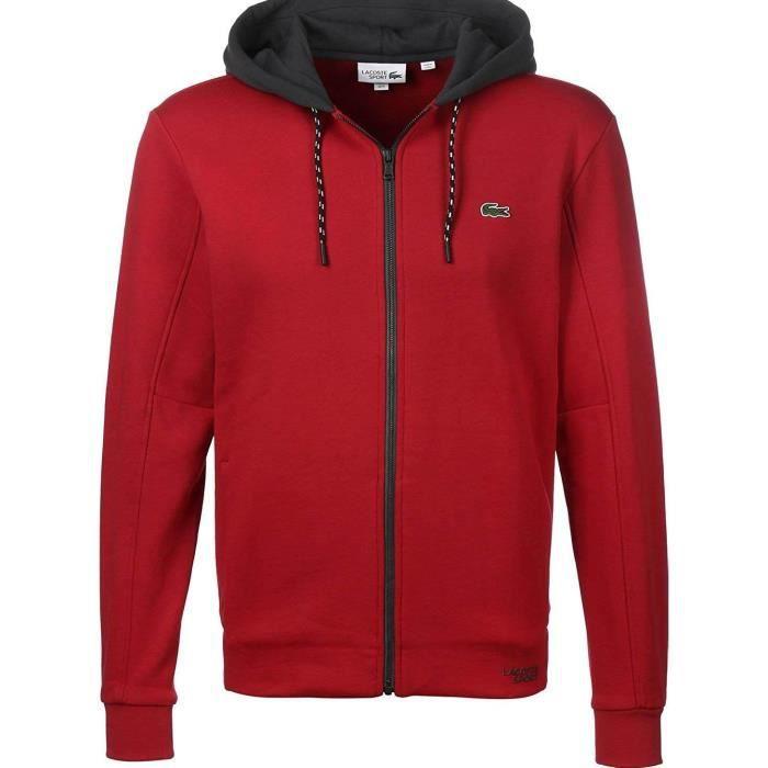 cc03a28a7e Sweat Lacoste SH9491 Rouge Rouge Rouge - Achat / Vente sweatshirt ...