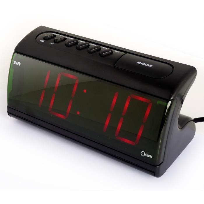 Orium r veil grands chiffres achat vente radio r veil cdiscount - Horloge orium led bleue ...