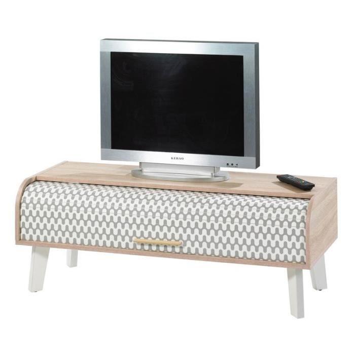 MEUBLE TV Meuble TV à rideau - ARKOS n°2