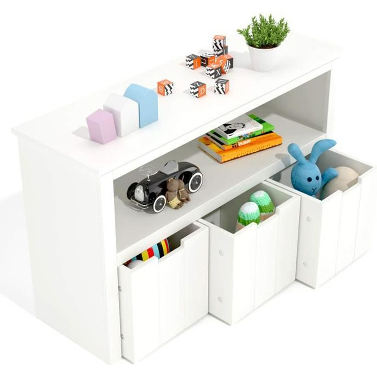 Petit meuble de rangement avec tiroir chambre enfant