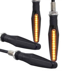PHARES - OPTIQUES 4 x Clignotant Moto Ampoule LED Moto Feux Addition