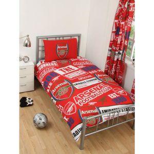 HOUSSE DE COUETTE SEULE Arsenal FC Patch simple Housse de couette et taie