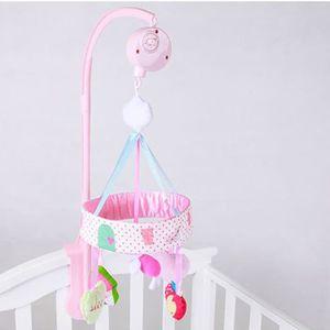 3a88701de3b0a Bébé Cloche de lit Musique Jouets Faire pivoter sonner la clochett Convient  pour 0-12 mois bébé