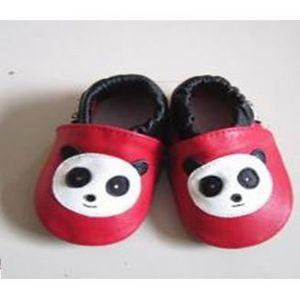 CHAUSSON - PANTOUFLE Chaussons ENFANT Cuir Souple 18-24 mois panda