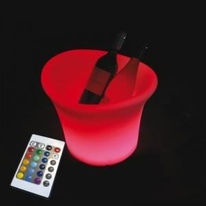 DÉCORATION LUMINEUSE Seau champagne lumineux rechargeable