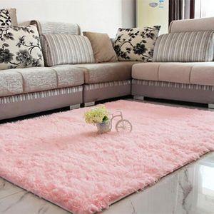 TAPIS D'ENTRÉE Hicollie® Tapis Peluche Épais Moquette Carpet Déco