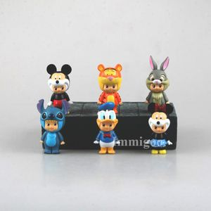 FIGURINE - PERSONNAGE IMMIGOO® 6 Pièces Minnie Mouse Mickey Mouse Donald