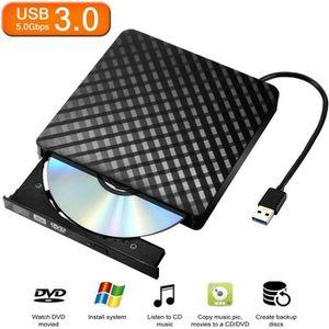 LECTEUR - GRAVEUR EXT. Graveur Lecteur Externe USB 3.0 DVD-R & CD-RW Comp