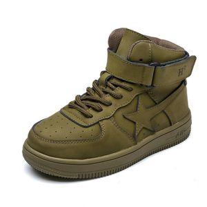 Enfants Chaussures Bottes Garçon filles Haute Chaussures cuir 0TI7W