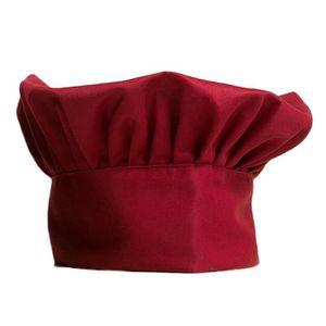 Toque de cuisinier achat vente pas cher for Cuisinier chapeau noir