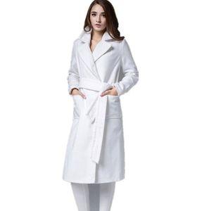 MANTEAU - CABAN Femme manteau longue blanc idéal pour cérémonie et