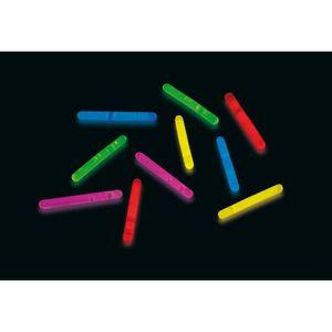 ACCESSOIRE DÉGUISEMENT Lot de 10 Ministicks fluo mix 3,9 x 0,5 cm