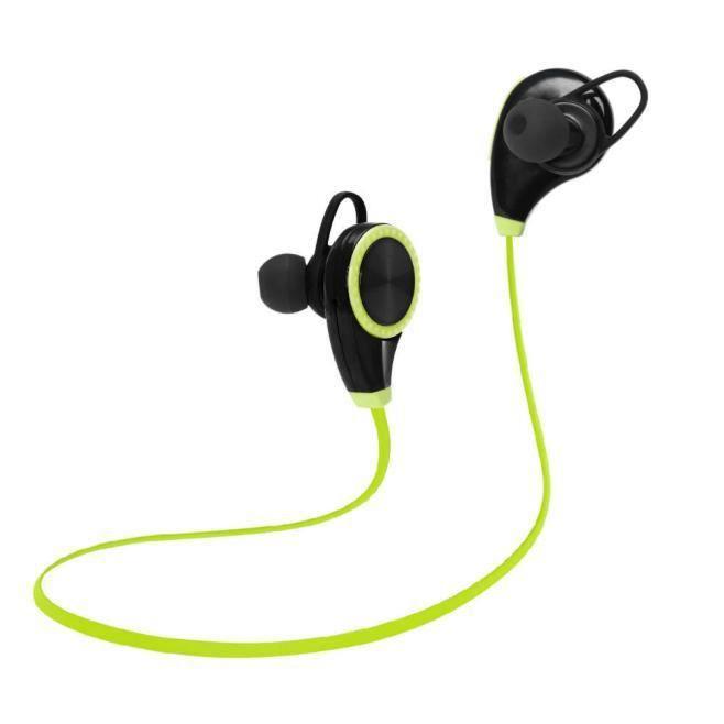 Périphérique Bluetooth De Sport Imperméable À La Sueur Casque Sans Fil Casques Stéréo Vert