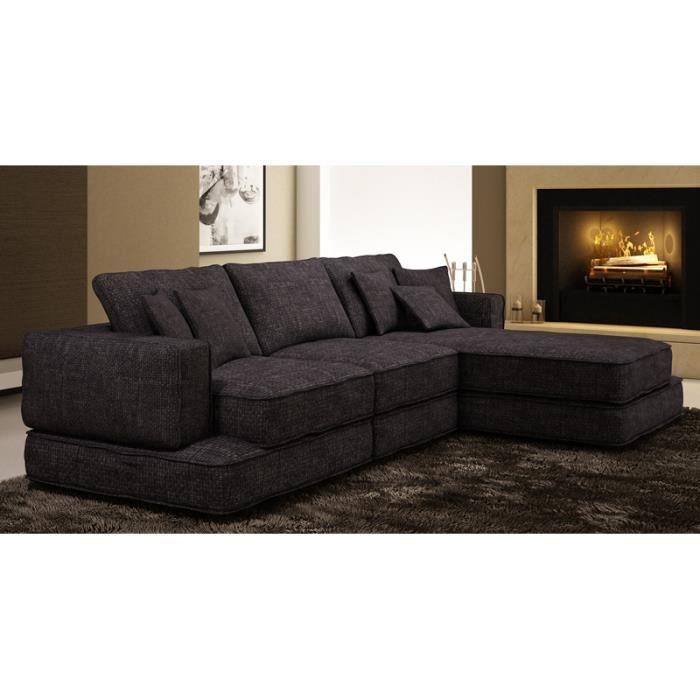 CANAPé D ANGLE EN TISSU GRIS VEGAS Achat Vente canapé sofa