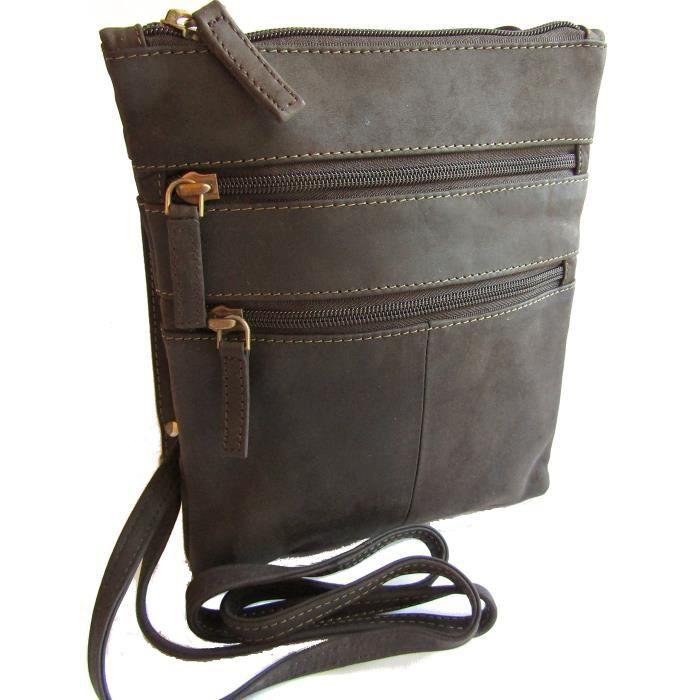 nouvelles dames petit cuir multi comparment sling à travers organisateur de sac de corps LADM0