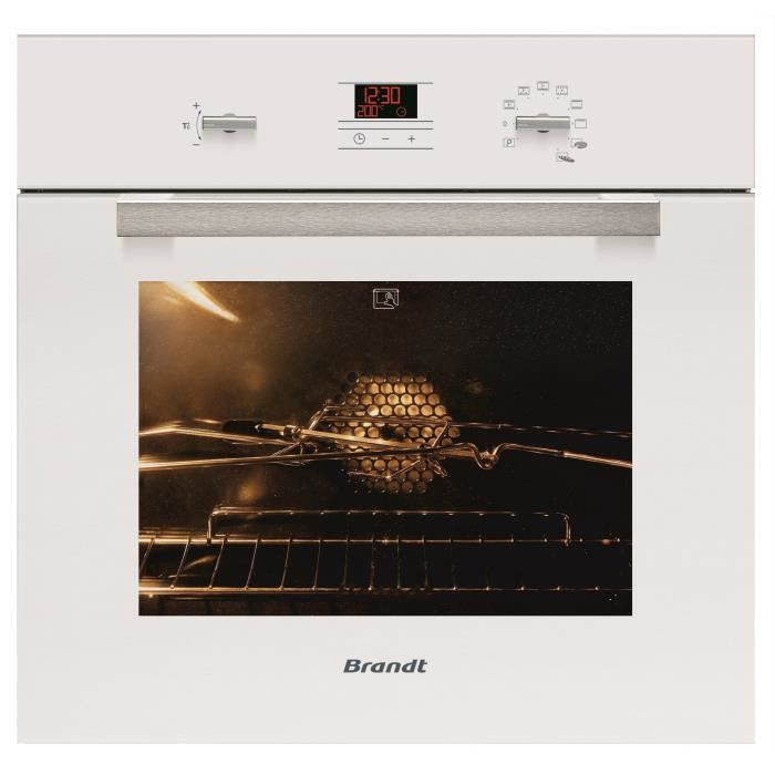 Brandt fp1061w four pyrolyse 53l blanc achat vente for Four brandt solis multifonction pyrolyse