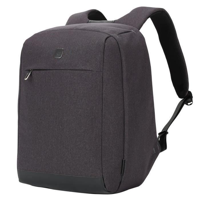 Sac à dos antivol pour 14 pouces ordinateur portable résistant à leau pour femmes et hommes style daffaire 22L gris foncé