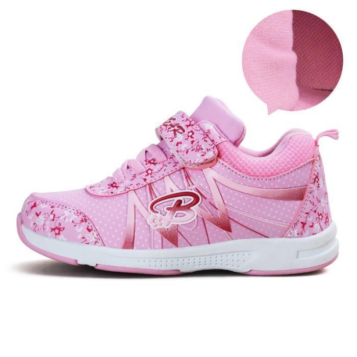 Basket Enfant hiver Sport Plus cachemire Ultra léger Chaussure BXFP-XZ211Rose29-2