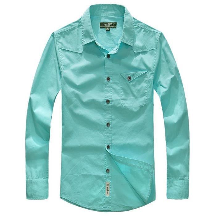 Chemise 100 Homme Style Chmeise Manches En Longues Coton r6TrFU