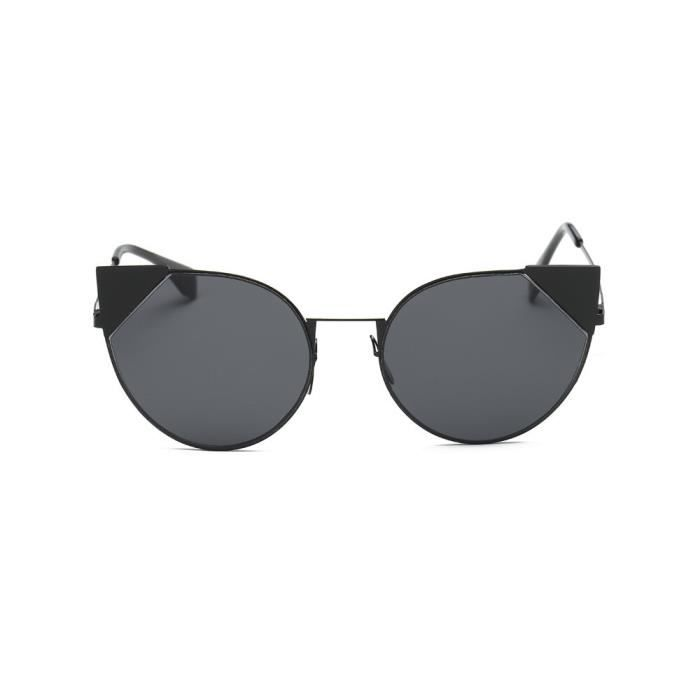 Femmes hommes Vintage rétro lunettes de mode unisexe Aviator lunettes de  soleil lentille miroir NOIR BB ... 4e752975125b