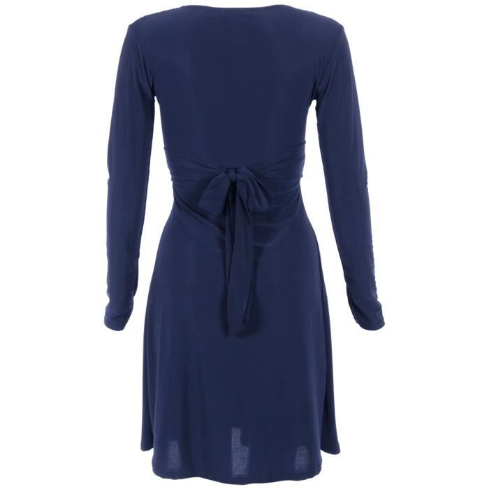 Robe Noeud Manches Longues