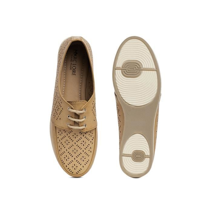 lacets rond laser 36 solide femmes up derby NB2HP à bout beige Taille casual chaussures coupe WnXRR5F0q