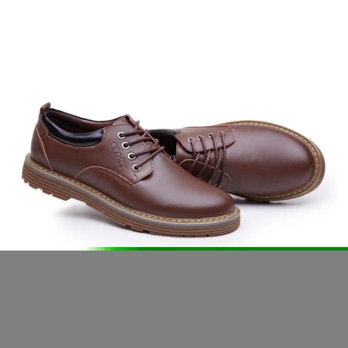 JOZSI Chaussures Hommes Cuir Respirant mode Homme chaussure de ville SHT-XZ200Rouge38