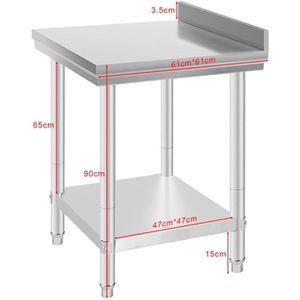PLAN DE TRAVAIL LUXS Table de Travail Inox Pour cuisine profession